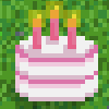 Gurkenlabs pixelart birthday cake